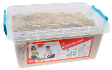 Kinetisk sand, 5 kg. i oppbevaringskasse