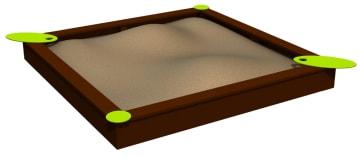 Sandkasse 3 x 3 meter, vedlikeholdsfritt