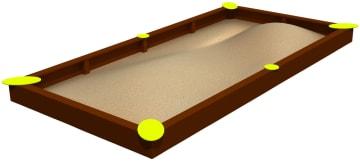 Sandkasse 6 x 3 meter, vedlikeholdsfri