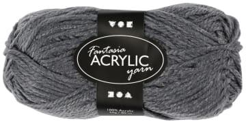 Fantasia Akrylgarn, L:80 m, 50 g, grå