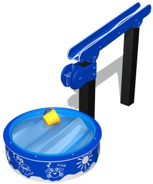 Vannleksett 1, vannrenne med vannhjul og basseng
