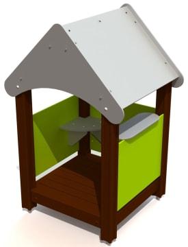 Lekehus Kiosk 2 med handledisk, vedlikeholdsfri