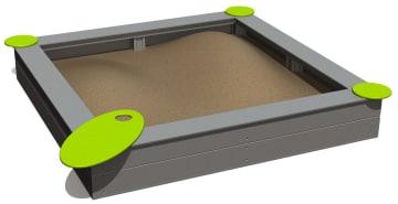 Sandkasse 200x200cm Vedlikeholdsfri