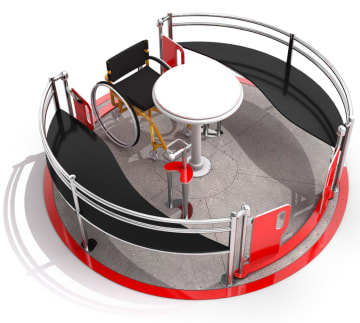 Karusell Vento 2, rullestolvennlig