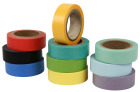 Farget Tape, 15mm x10 m, 10 ruller ass.