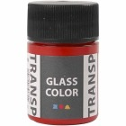 Glass Color Transparent, 35 ml, rød