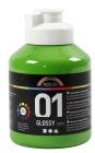 A-Color akrylmaling, 500 ml, lys grønn