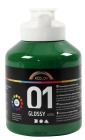 A-Color akrylmaling, 500 ml, mørk grønn