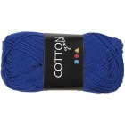 Cotton nr. 8, L:165 m, 6S/4, 50 g, koboltblå