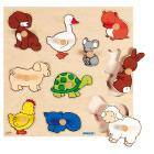 Knoppuslespill, dyr