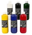 Tekstilmaling 6x500ml. ass farger
