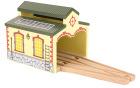Lokomotivstall, liten for 2 lokomotiver
