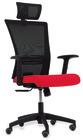 Sanus kontorstol med armlene, rødt sete