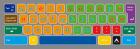 Tastatur matte  123 x 350 cm i vinyl