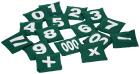 Erteposesett (med tall)  000 og 00, 0-9 og ( + - x =)