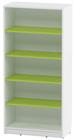 Agata høy bokhylle m/4 grønne hyller