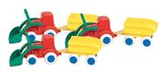 Traktor m/ henger sett à 3stk