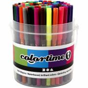 Colortime Tusj - 2mm strek, 100 ass, ass. Farger