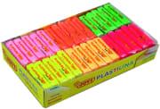 Plastelina fluorfarger 60 x 50gr, ass