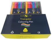 Nexus trekant tusj, 10x10 stk.ass.farge