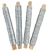 Metalltråd 0,5 mm, 4 x 50 m. sølvfarget