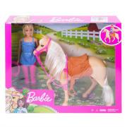 Barbie dukke og hest