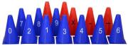 Kjegler m/ tall og tegn 15 stk  1-9, +, -, x, osv.