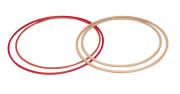 Plasttønnebånd, Ø80 cm  I rødt plast med FIG profil.