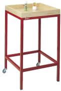 Harpiksbord, 60x60x95 cm  H95 x B60 x L60 cm.