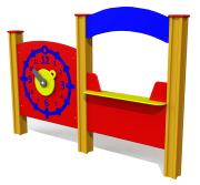 Aktivitetsvegg, klokke og kiosk, standard