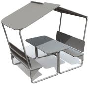 Benkebord med tak