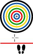 Gulvdekor Ringspill 1, Ø120 cm