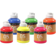 A-Color akrylmaling, 6x500 ml, neonfarger
