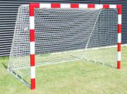 Minihåndballmål Alu 160x240 cm  Rød/hvit D:60/150 cm
