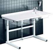 Frittstående stellebord med vask, 80 x 140 cm