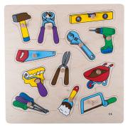 Knoppuslespill, verktøy