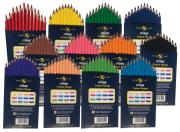 Milas tykke fargeblyanter, enkeltfarger