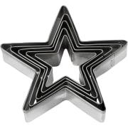 Utstikksformer, Stjerne, 8 cm, 5 Stk., 1 Pk.