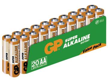 Batteri GP Super Alkalisk AA/LR6 (20)