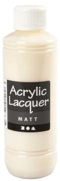 Akryllakk, Matt, 250 ml