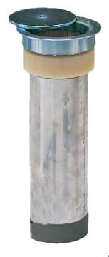 Hylse alu skruegevind ø110mm  Med flange og deksel
