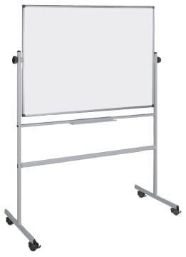 Vendbar whiteboardtavle på hjul