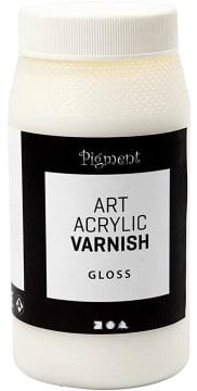 Acryliclakk  sluttfernis, blank, 500 ml