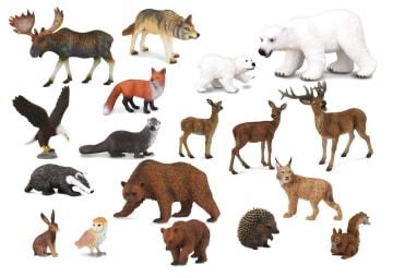 Norske ville dyr, 18 stk ass.
