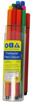 ELS tynn trekant tusj, 12 stk.ass.farge i plastbeholder
