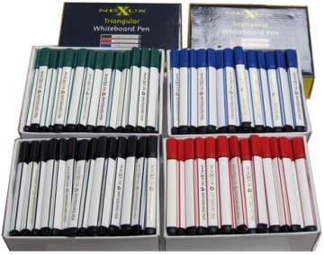 Whiteboardpenn m/trekantgrep 4 ass farger