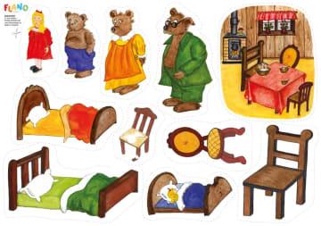 Gullhår og de tre bjørnene, flanobilder