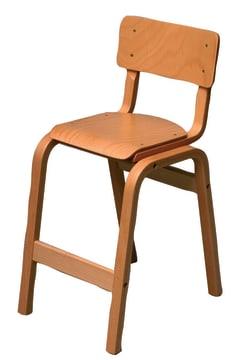 Karlo høy barnestol i beiset bøk,(Ahorn) SH: 49 cm
