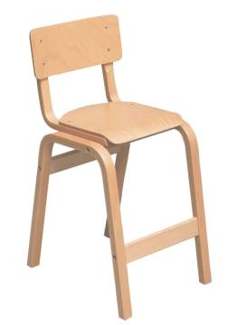 Karlo høy barnestol i lakkert bøk, SH: 49 cm