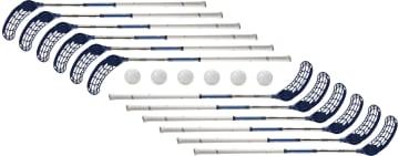Innebandysett ZONE RIP 105 cm 12 køller og 6 baller
